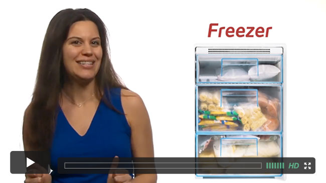 A thumbnail from a course lecture on stocking a plant-based freezer