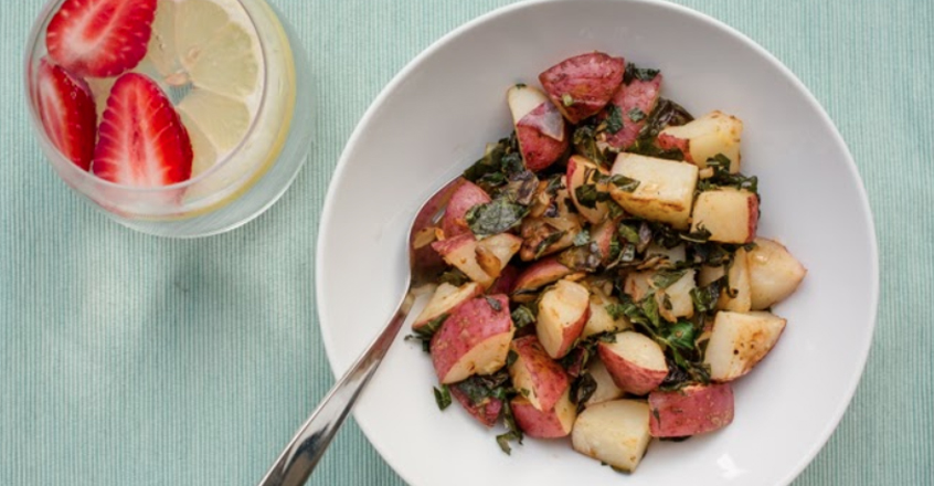Red Potatoes with Greens Recipe
