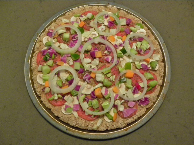 Ingredients On Top of Pizza
