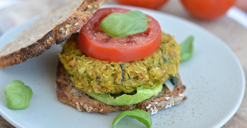 Chickpea-Summer Squash Veggie Burger Recipe