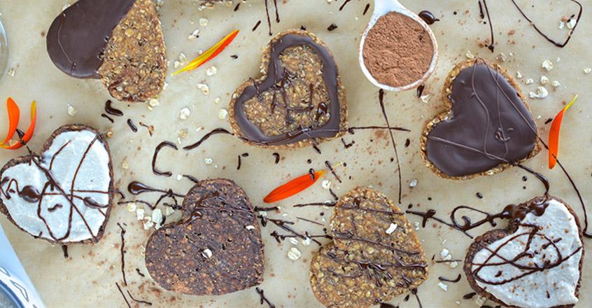 Heart-Shaped Oat & Banana Cookies Recipe
