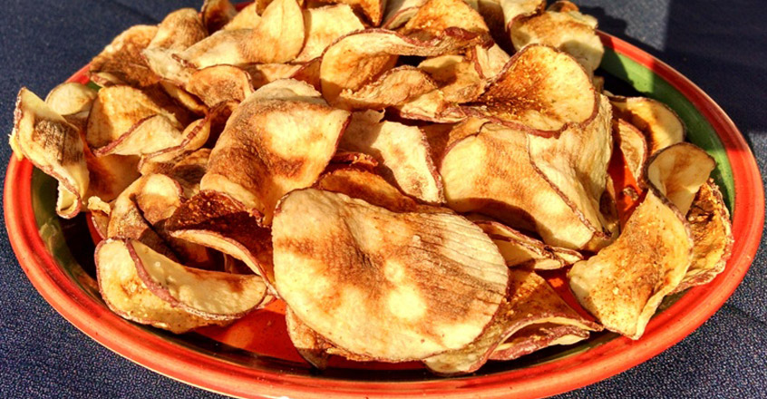 Low-Fat Microwave Potato Chips Recipe