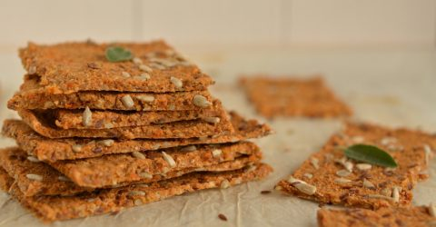 Oil-Free Buckwheat Crackers With Sunflower Seeds