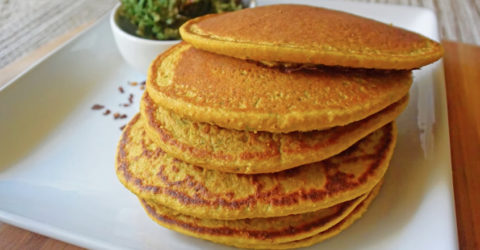 Kale and Sweet Potato Pancakes
