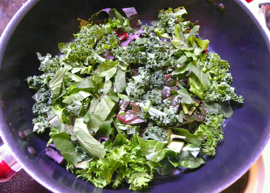 Mixed Greens in Wok