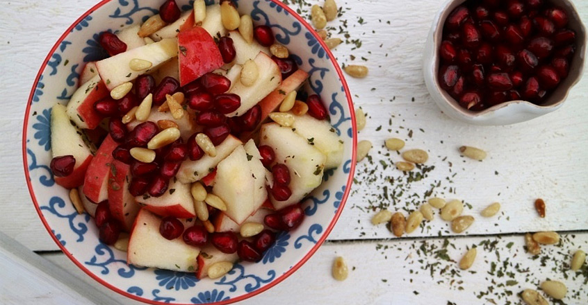 Apple Salad with Mint & Pine Nuts Recipe