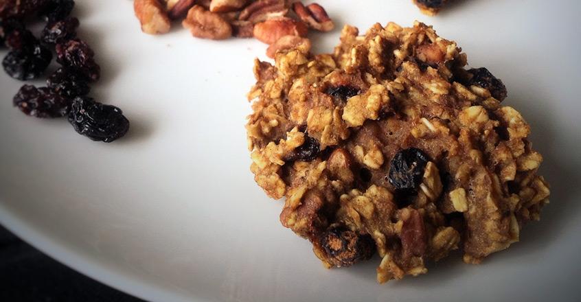 Pumpkin Pecan Oat Cookies Recipe