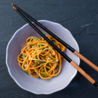 Thai Zucchini Noodle Salad With Curry-Lime Dressing