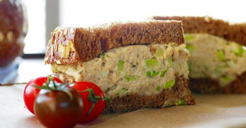 """Deli Style """"Tuna"""" Salad Sandwich With Cashew Mayo"""