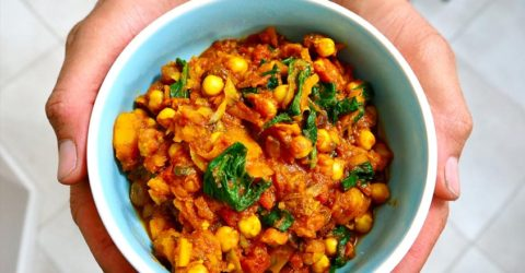 Sweet Squash and Garbanzo Curry