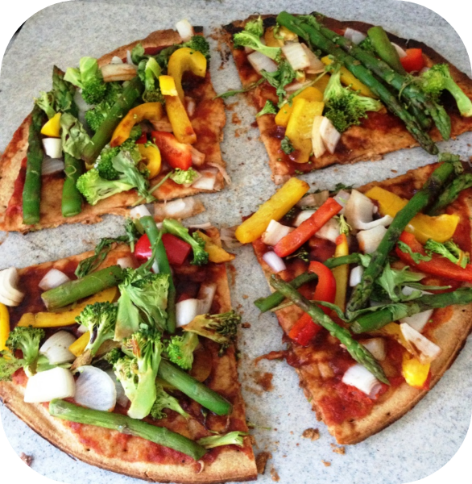 Prepared pizza: Easy Plant-Based Meal Prep for Breakfast, Lunch, and Dinner
