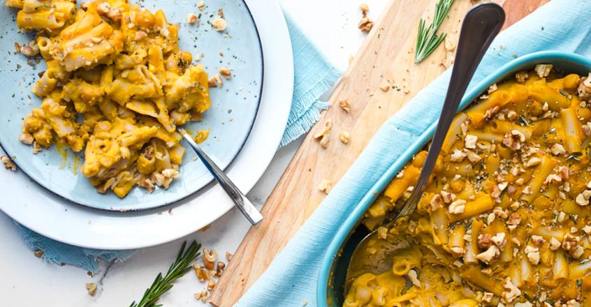 Rosemary and Garlic Baked Butternut Squash Pasta