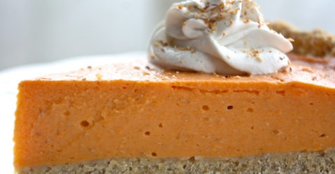 Vegan Sweet Potato Pie With Chia Oat Crust