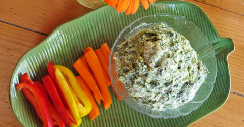 Creamy Basil Spinach Dip