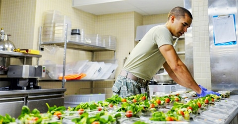 How to Eat Plant-Based in the Military
