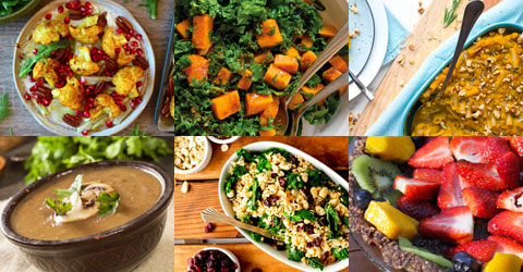 Whole Food, Plant-Based Thanksgiving Recipe Ideas With Full Menu