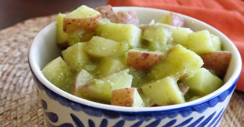 Red Potatoes in Salsa Verde