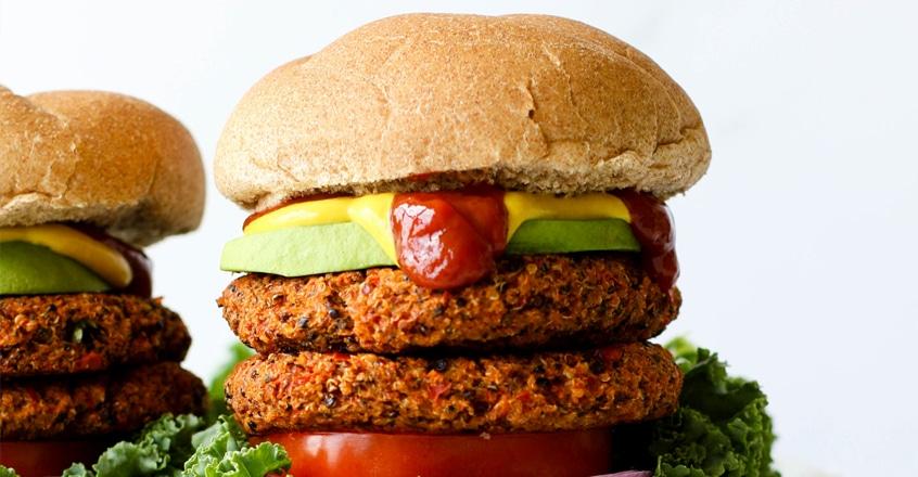 Crispy Garden Quinoa Burgers