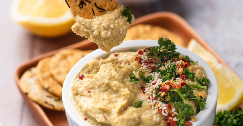 Oil-Free Curry Hummus