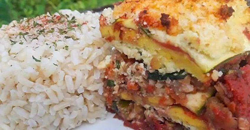 Red Lentil Veggie Lasagna