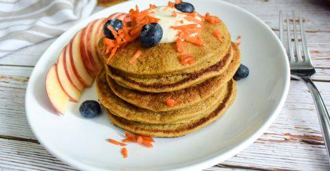 Carrot Cake Oatmeal Pancakes