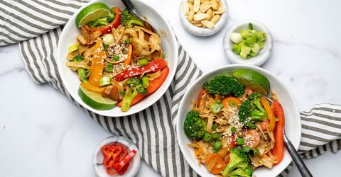Rainbow Noodle Stir-Fry