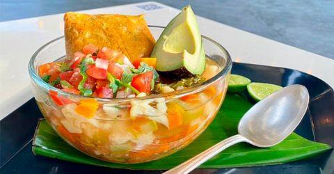 Traditional Caldo Tlalpeño Soup